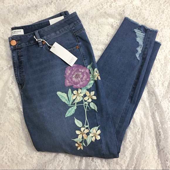 LANE BRYANT ~ NWT New 16 18 26 28 ~ Floral Graphic ULTIMATE STRETCH Skinny Jean